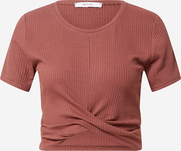 ABOUT YOU Shirt 'Silva' in Brown