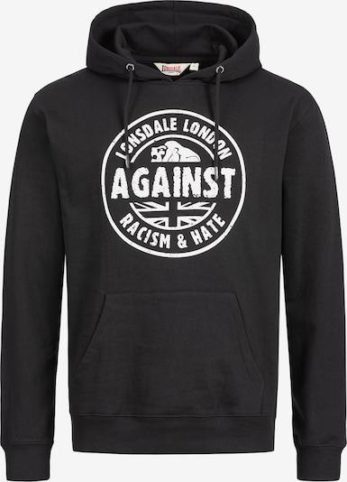 LONSDALE Kapuzensweatshirt 'LINFORD' in schwarz, Produktansicht