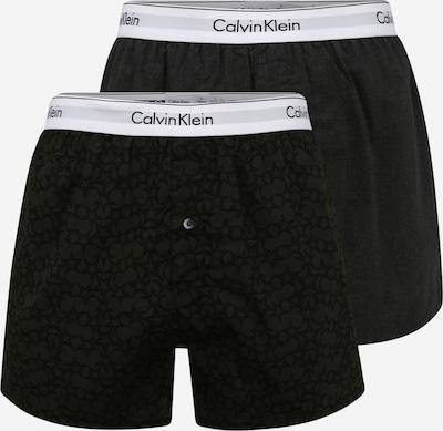 Calvin Klein Underwear Boxershorts in graumeliert / dunkelgrün / schwarz, Produktansicht
