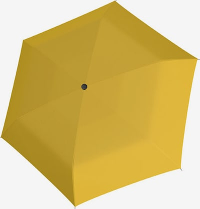 Doppler Taschenschirm 'Fiber Handy' in gelb, Produktansicht