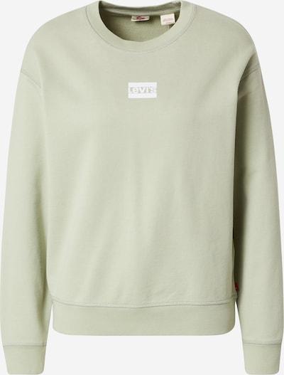 LEVI'S Μπλούζα φούτερ σε μέντα / λευκό, Άποψη προϊόντος
