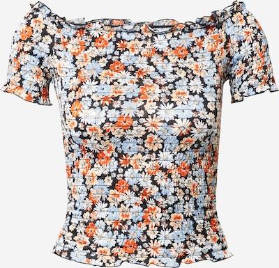 JDY Shirt 'BOA ANN' in hellblau / rot / schwarz, Produktansicht