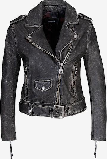 tigha Biker Lederjacke  ' All Time Fav Biker 21031 ' in schwarz, Produktansicht