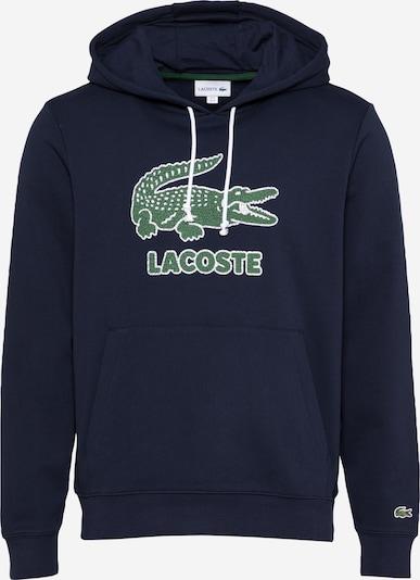 LACOSTE Sweat-shirt en bleu foncé / vert / blanc, Vue avec produit