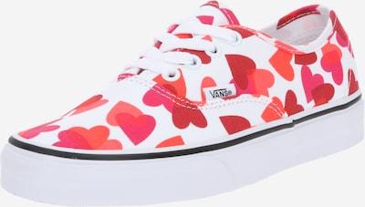 VANS Sneakers laag 'Authentic' in de kleur Pink / Kersrood / Lichtrood / Wit, Productweergave