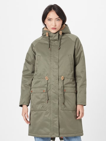Derbe Mantel in Grün