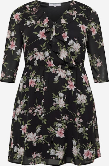 ABOUT YOU Curvy Kleid 'Lina' in grün / rosa / schwarz / weiß, Produktansicht