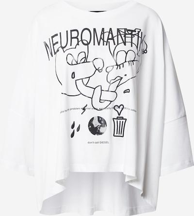DIESEL T-shirt 'CRAMBLE' en noir / blanc, Vue avec produit