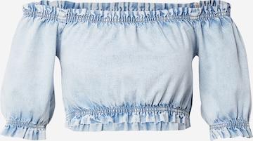 Gina Tricot Shirt 'Boho' in Blauw