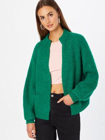 LIEBLINGSSTÜCK Knit Cardigan 'Achika' in Green