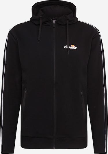 ELLESSE Sportsweatjacke 'Ornari' in schwarz / weiß, Produktansicht