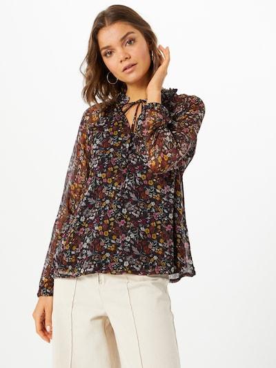 ABOUT YOU Blouse 'Elis' in de kleur Gemengde kleuren / Zwart, Modelweergave