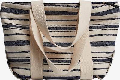 MANGO Tasche grant in beige / royalblau, Produktansicht