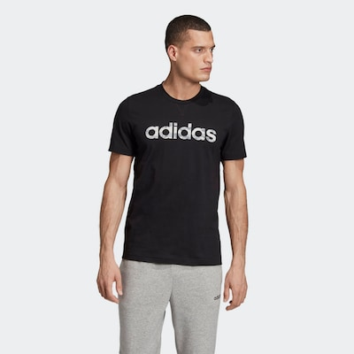 ADIDAS PERFORMANCE Funkcionalna majica | črna / bela barva: Frontalni pogled