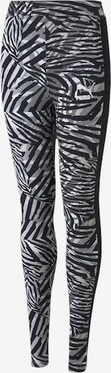 PUMA Leggings in creme / graumeliert / schwarz / weiß, Produktansicht