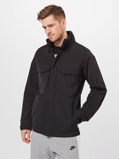 Nike Sportswear Prechodná bunda - čierna: Pohľad spredu