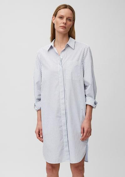 Marc O'Polo Blusenkleid in hellblau / dunkelblau / weiß, Modelansicht