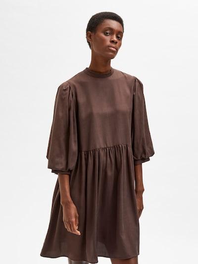 SELECTED FEMME Kleid 'Iduna' in schoko, Modelansicht