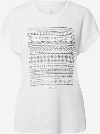 ONLY Shirt 'PIPER' in grau / weiß, Produktansicht
