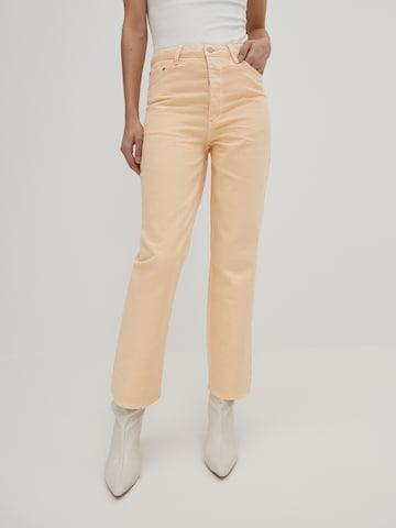 Jeans 'Simea' di EDITED in arancione