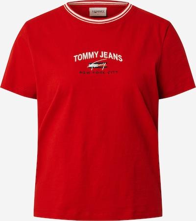 Tommy Jeans T-shirt en bleu nuit / rouge / blanc, Vue avec produit