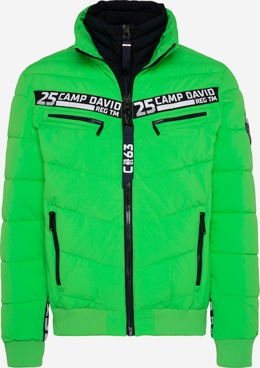 CAMP DAVID Jacke mit Doppelverschluss und Logo Tapes in grün, Produktansicht