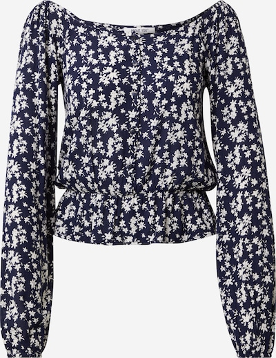 ABOUT YOU Blouse 'Nuria' in de kleur Navy / Wit, Productweergave