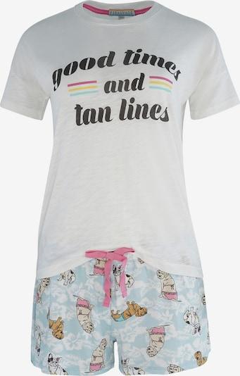 PJ Salvage Korte pyjama ' Print ' in de kleur Lichtblauw / Wit, Productweergave
