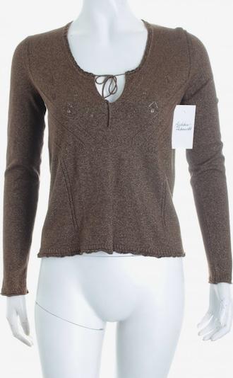 Sônia Bogner Strickshirt in S in braun / gold, Produktansicht