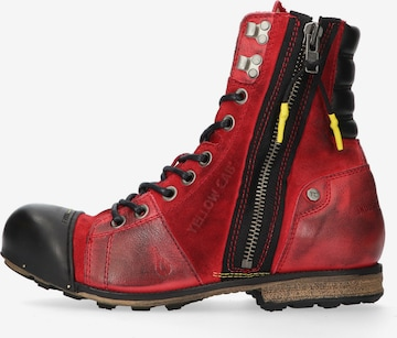 YELLOW CAB Stiefel in Rot