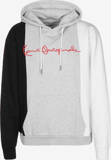 Karl Kani Sweatshirt in grau / rot / schwarz / weiß, Produktansicht