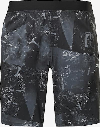 Pantaloni sport REEBOK pe gri / negru, Vizualizare produs