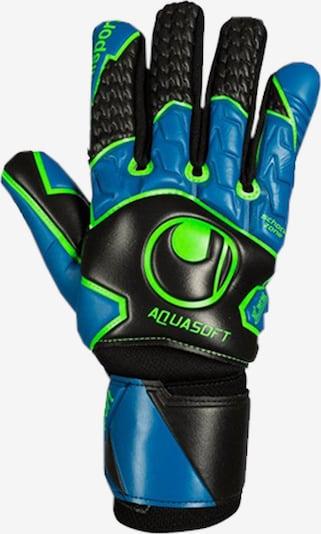 UHLSPORT Handschuh in himmelblau / neongrün / schwarz, Produktansicht