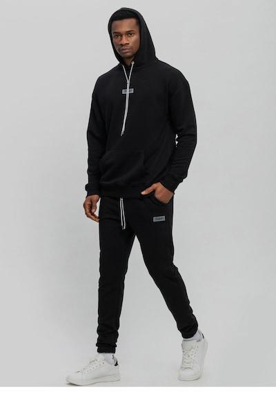 Tom Barron Jogginganzug mit Hoodie in schwarz, Produktansicht