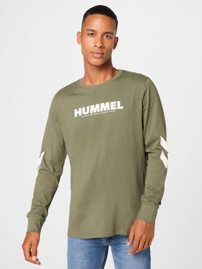 Hummel Sporta krekls 'Legacy', krāsa - haki / balts: Priekšējais skats