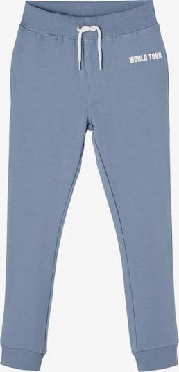 NAME IT Broek in de kleur Smoky blue / Wit, Productweergave