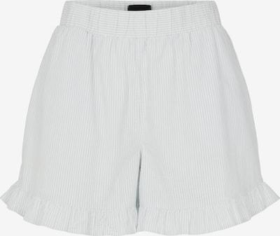 PIECES Shorts 'Luca' in rauchblau / weiß, Produktansicht