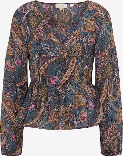 Bluză usha FESTIVAL pe albastru porumbel / maro pueblo / maro deschis / galben miere, Vizualizare produs