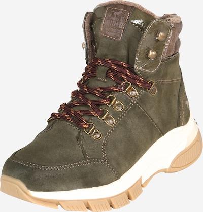 Auliniai batai iš MUSTANG , spalva - ruda / alyvuogių spalva, Prekių apžvalga