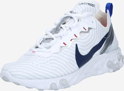 Nike Sportswear Niske tenisice 'React Element 55' u plava / tamno plava / svijetlosiva / srebro / bijela, Pregled proizvoda