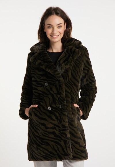 MYMO Wintermantel in khaki / schwarz, Modelansicht