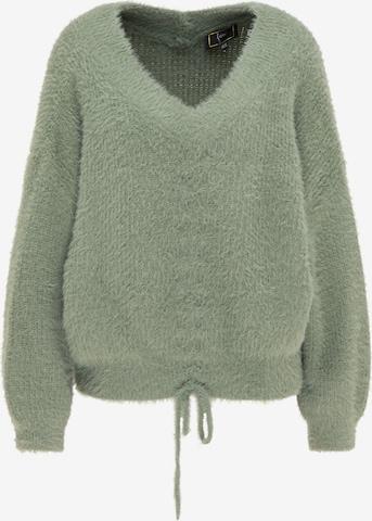 faina Υπερμέγεθες πουλόβερ σε πράσινο