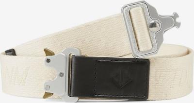 TOM TAILOR DENIM Gürtel in beige / schwarz / silber, Produktansicht