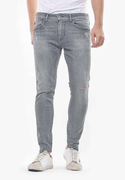 Le Temps Des Cerises Jeans POWERC im Used-Look in grau, Modelansicht