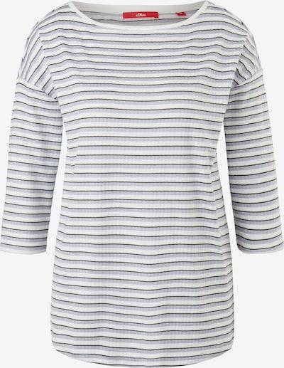 s.Oliver T-shirt en violet clair / noir / blanc, Vue avec produit
