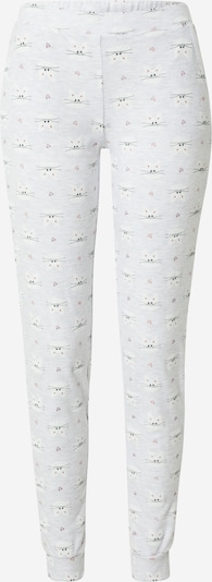 ETAM Pantalon de pyjama 'FRED' en gris clair / rose / noir / blanc, Vue avec produit