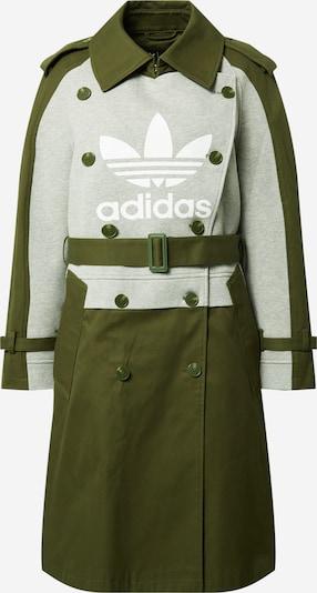 ADIDAS ORIGINALS Manteau mi-saison en gris chiné / olive / blanc, Vue avec produit