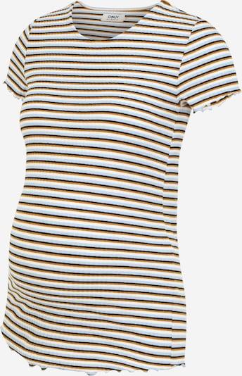 Only Maternity T-shirt 'EMMA' en bleu fumé / caramel / noir / blanc, Vue avec produit