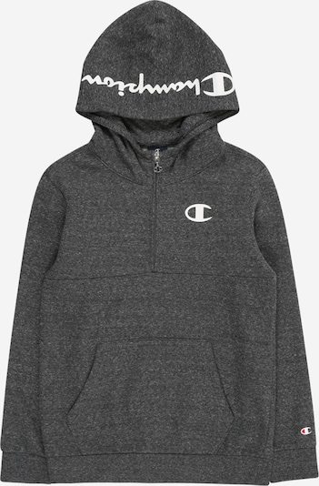 Champion Authentic Athletic Apparel Sweatshirt in dunkelgrau / weiß, Produktansicht