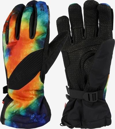 Seiz Handschuhe in blau / orange / schwarz, Produktansicht